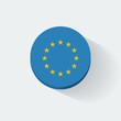 Round icon with flag of European Union