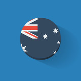 Round icon with flag of Australia