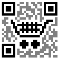 """Shopping Cart"" QR CODE (add to basket shop order e-commerce)"