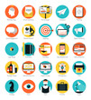 Marketing and design services flat icons set - 62518137