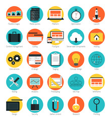 Responsive web design icons set