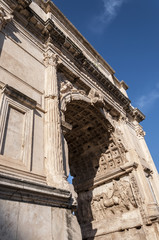 Detail of The Arch of Titus, Rome, Italy