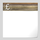 vector banner with wood texture and pound sign