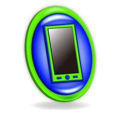icono 3d azul y verde