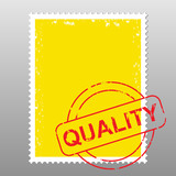 business postage stamp with mark of quality
