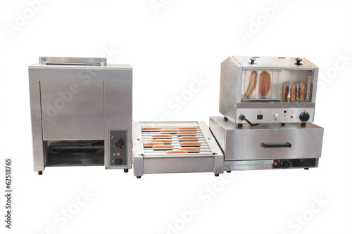 Professional equipment for hot dog preparation