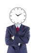 invisible businessman head think for time management