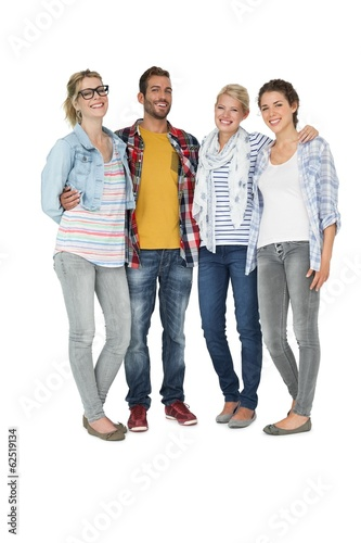 Full length portrait of casually dressed people