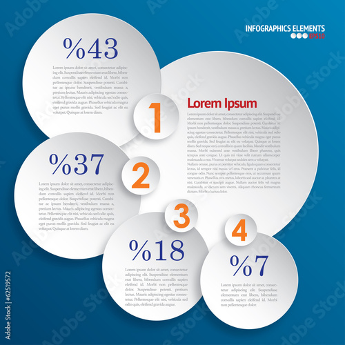 Modern info graphics circle style template.