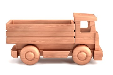 realistic 3d render of wooden toy
