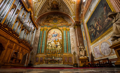Church of Santa Maria degli Angeli. Rome. Italy.