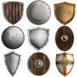 medieval shields collection #2 isolated on white - 62520109