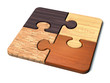 canvas print picture - puzzle_wood