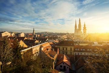 cityscape of Zagreb. Croatia.