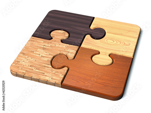 canvas print picture puzzle_wood