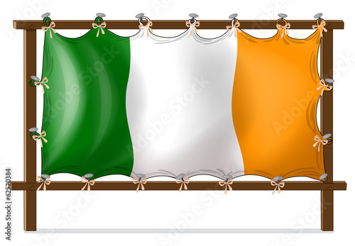 A frame with the flag of Ireland