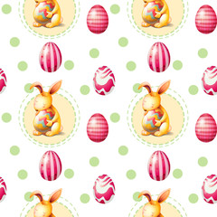A seamless Easter Sunday template
