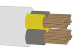 cartoon image of electric cable