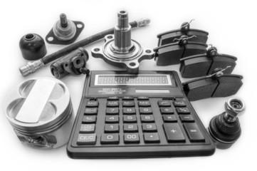 Автозапчасти и калькулятор