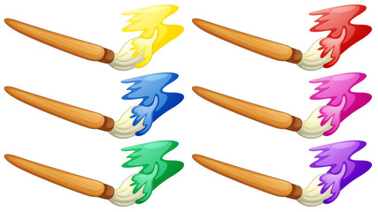 Different design of painter's brush
