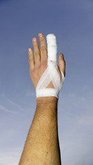 Wounded finger