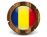 Romania wood button