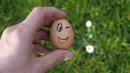 Funny Egg winks