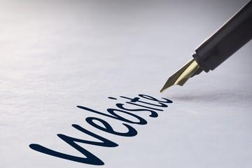 Fountain pen writing Website