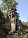 Preah Khan Temple tower, stones, Angkor, Cambodia
