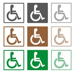 Schwerbehindertensymbole , Icons