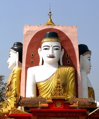 Buddha as his direction 4 points in Myanmar