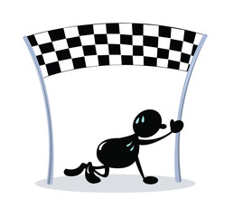 the last one - chequered flag