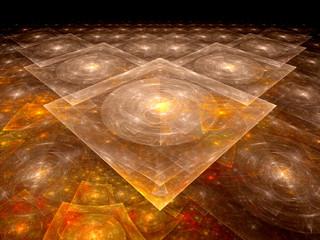 Orange nanotechnology background