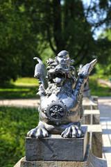 Bronze dragon on the bridge