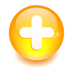 bouton internet plus icon orange