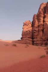 among the red rocks,desert Wadi Rum, jordan