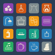 Spa massage icons set
