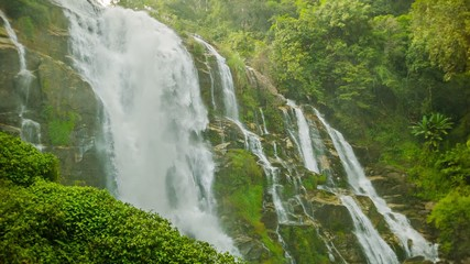 High mountain waterfall near Chiang Mai, Thailand