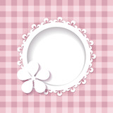 pink background with a frame (a seamless pattern and a seamless