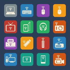 Wireless equipment icons.