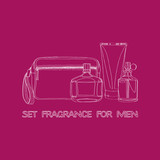 set of men's fragrances