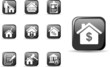 Real estate and mortgage icons set