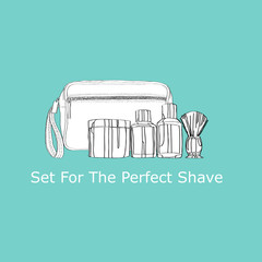 shaving kit: cream, lotion,  shaving gel