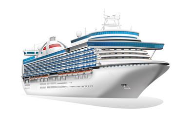 Luxusliner, Kreuzfahrtschiff freigestellt