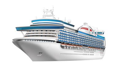 Kreuzfahrtschiff freigestellt