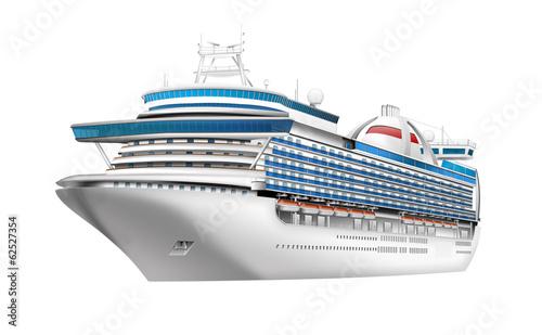 Leinwandbild Motiv Kreuzfahrtschiff freigestellt