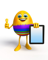 Happy Easter Egg with ipad