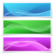 Abstract Banner Background Set