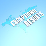 Exceptional results world map poster