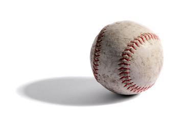 Old leather baseball